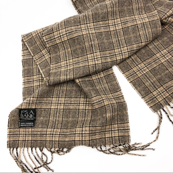 Jos. A. Bank Other - Jos A Banks 100% cashmere plaid scarf